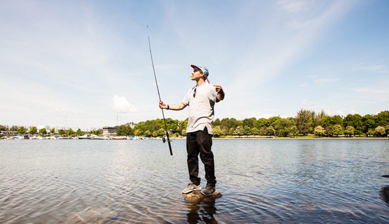 Bryan kalastamassa Kalliossa